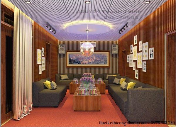 Thiết kế phòng hát karaoke gia đình KĐT Tân Hoàng Mai
