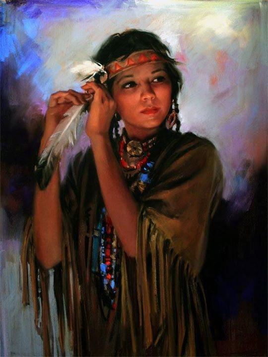 American Indian Girl - 97.3KB