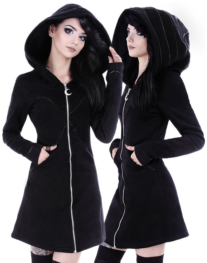 Restyle Layered Hoodie Black Riding Hood Jacket - £58.99 : From ANGEL CLOTHING