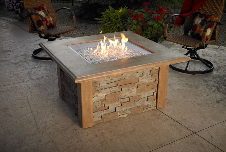 Sierra Stainless Propane/Natural Gas Fire Pit Table