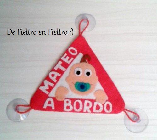 De Fieltro en Fieltro: BEBÉ A BORDO
