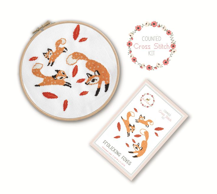Stitch away stress as you create this adorable fox cross stitch. Cross stitch is easy to learn and simple to create so it makes it a very relaxing craft that anyone can do! Just like adult coloring books and paint by number kits, cross stitch kits help you to focus on a simple task to take your m