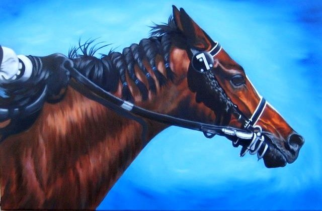 """Horse With no Name""  Oil  20"" x 30""  on gallery canvas  $1000."