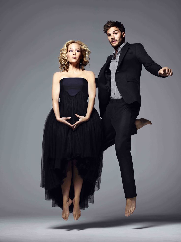 Gillian Anderson and Jamie Dornan, Red Magazine, July Issue. Shot by Jonty Davies. Styling: Alexandra Stedman