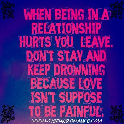 when to stay in a relationship and leave