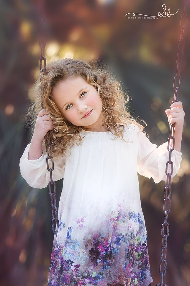 Sandra Bianco- a stunning child portrait. Love the swing idea for any age