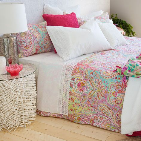 Roupa De Cama Estampado Paisley Cama Flora Collection