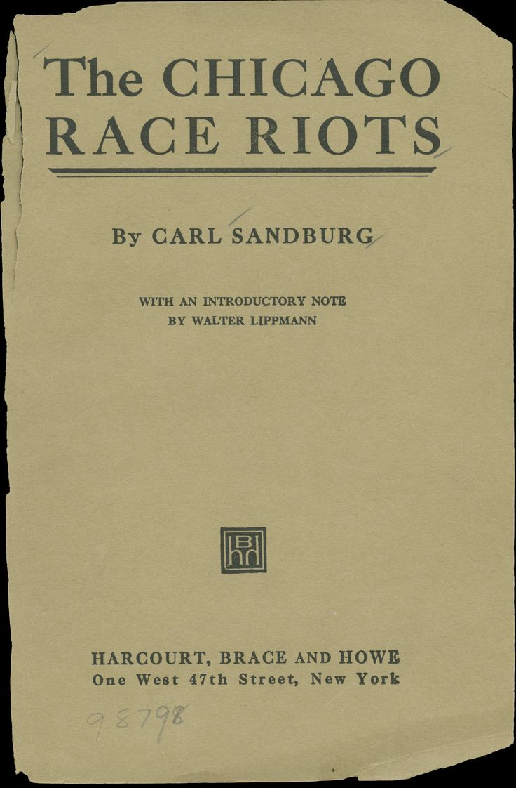 chicago race riots   Image of The Chicago Race Riots, July 1919