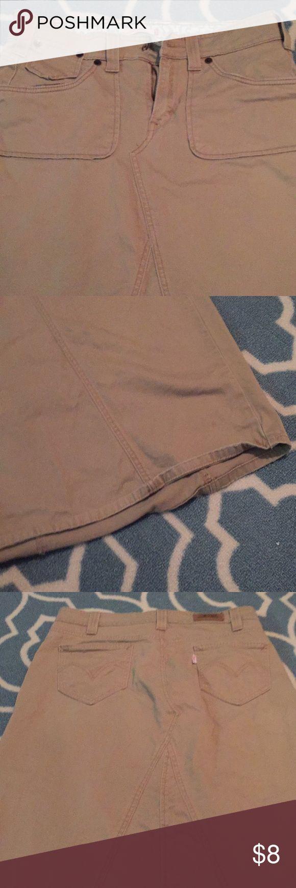 Long khaki skirt Button missing. Levi's Skirts Maxi