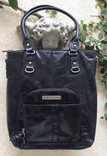Clark & Mayfield Irvington Glazed Vintage Leather Laptop Work School Handbag Bag