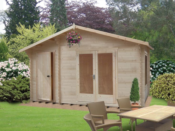 277 best images about garage stuff on pinterest garage for Garden office with side shed