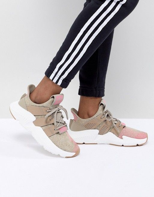 2a8f857d27d adidas Originals Prophere Trainers In Beige And Pink