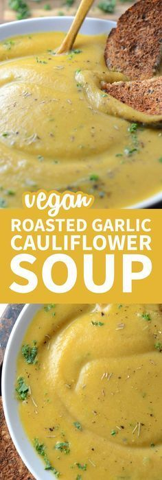 This creamy roasted garlic cauliflower soup is vegan, oil-free, low in fat and carbs and has a delicious, rich, garlic flavour. Easy to make with everyday ingredients, ready in under 30 minutes.
