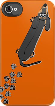 """""""Walked on by a Dachshund"""" iPhone iPod Cases by Diana-Lee Saville 