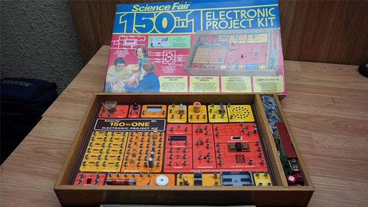 Vintage 1976 Radio Shack Science Fair 150 in 1 Electronic Project Kit Wooden Box | eBay