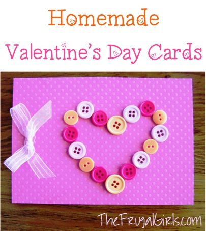Homemade Valentine Cards + Fun Love Note Ideas! ~ from TheFrugalGirls.com #valentinesday
