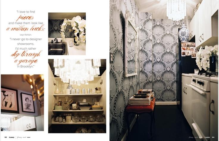 Small Kitchen - Great Pattern Wallpaper