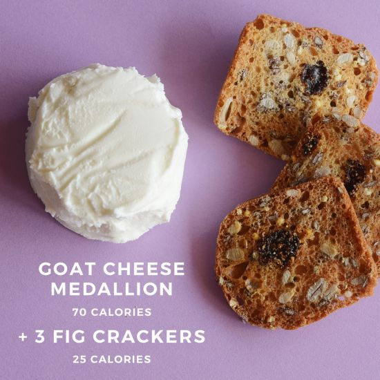 100 Calorie Sweet Treat Goat Cheese And Fruit Crackers