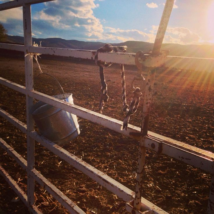 Sun setting at the Rockin'R Ranch in Antimony, Utah.