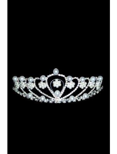 Bright Pearl Rhinestone Hoop Crown   Crowns   Jewelery   StringsAndMe