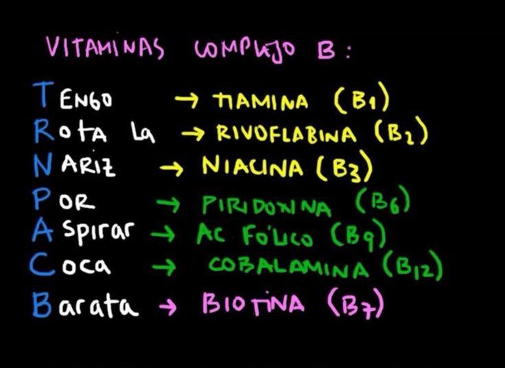 Infomedicos — Regla mnemotécnica para vitaminas del complejo B