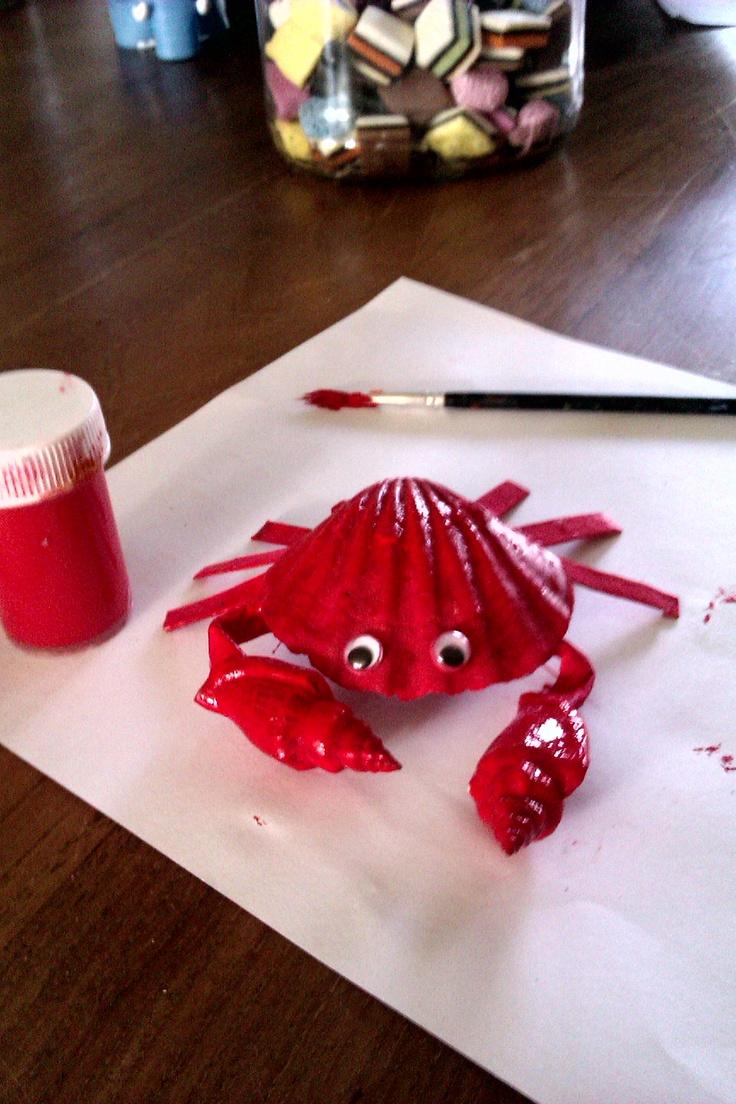 Knutselen met schelpen creatief voor kinderen pinterest knutselen and met - Zomer keuken steen ...