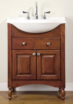 A perfect fit for tight spaces 26 inch single sink narrow for Bathroom vanities for small spaces