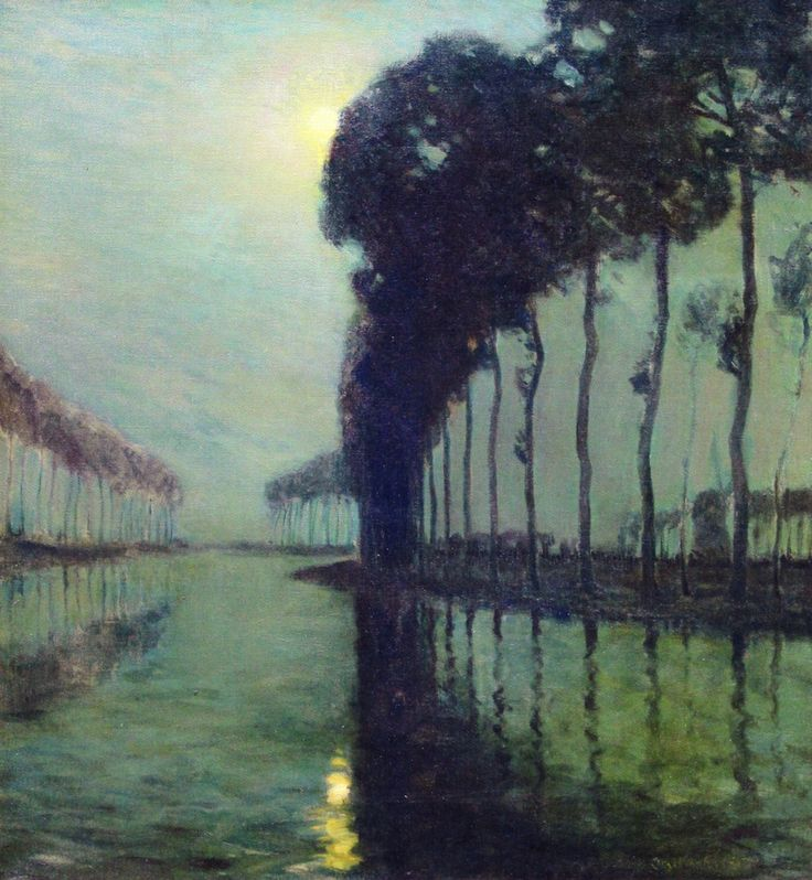 The Athenaeum - Moonlight on the Bruges Canal (Charles Warren Eaton - )