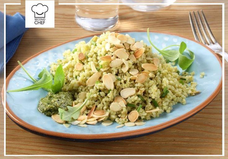 Hai voglia di provare qualcosa di diverso? #Second_Chef ti presenta il suo Bulgur al pesto, rucola e mandorle, un #primopiatto buono e salutare! Scopri la #ricetta su http://rebrand.ly/bulguralpesto  #incucinaconsecondchef #lericettedisecondchef #ricette #cucina #food #eat