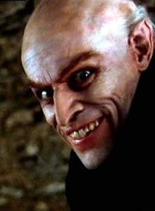 Willem Dafoe in Shadow of the Vampire. this guy looks creepy without the makeup! I can't look at this picture too long before I have to turn away...