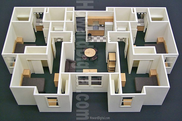 Scale Architectural Model home Buildings maker | ... Scale Model - Howard Architectural Models Callaway Dorms Architectural