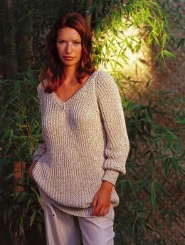 Gratisanleitung, Modell 5462, Raglanpullover im Halbpatent - Ein gemütlicher Pullover für kühle Tage ist dieser Raglanpullover in Halbpatent. Der V-Ausschnitt zaubert ein schönes Dekolletee.