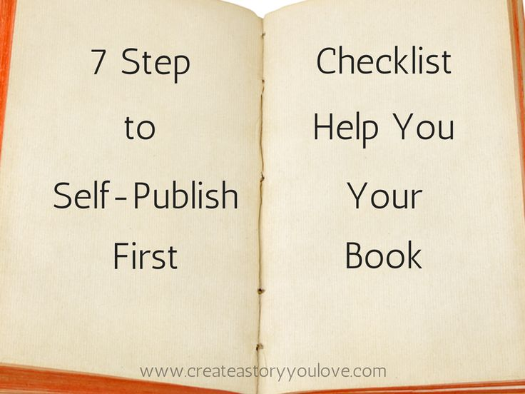 7 Step Checklist to Help You Self-Publish Your First Book by Lorna Faith #makeabook #selfpublish #createastoryyoulove