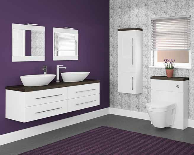 Linear - Linear basin units look simply amazing and are perfect for creating a chic boutique bathroom look, which is completed by stunning sit-on basins.