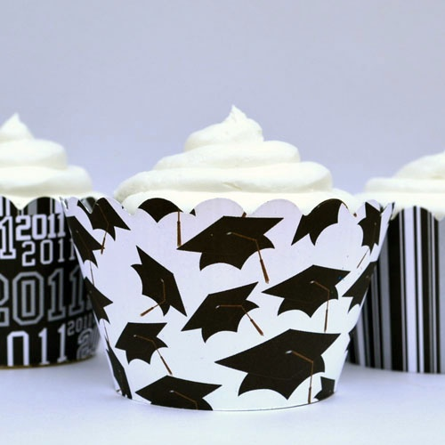 Graduation Cupcake Wrappers by Beau-coup. Very cute $10.99/dozen