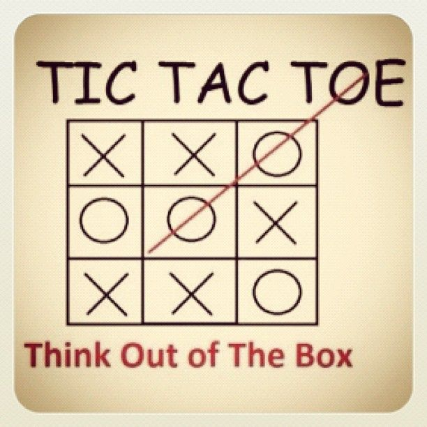 """""""TIC TAC TOE"""" Think Outside the Box FROM: Instagram photo by @Nathan Maxwell - Ultra Runner (Nathan Maxwell) 