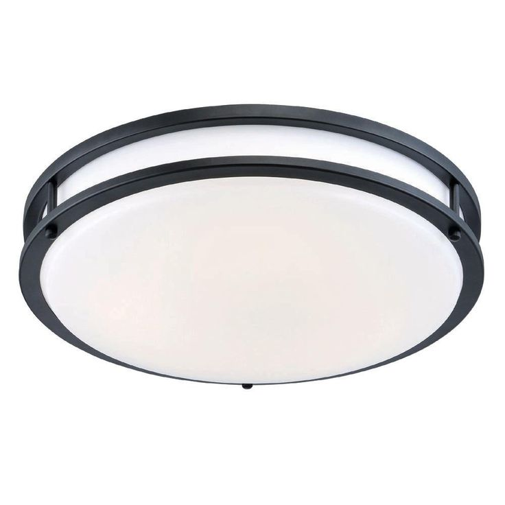 EnviroLite 12 in. Oil-Rubbed Bronze/White Low-Profile LED Ceiling Light