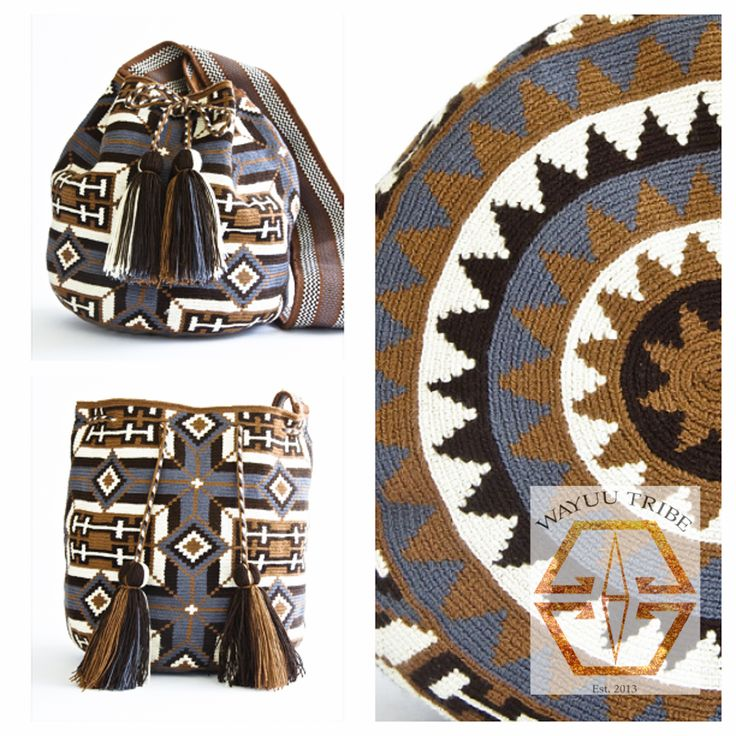 These Wayuu mochilas are #handmade and on-of-a-kind. This bag is known as the Hermosa at www.wayuutribe.com .The bags are labor intensive taking about a month to complete a detailed Mochila. The bag is woven from cotton thread. Bags begin at $75.00 for the chico to 260.00 for the intricate Hermosa.