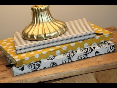 DIY Fabric Covered Books  ShowMeCute - YouTube