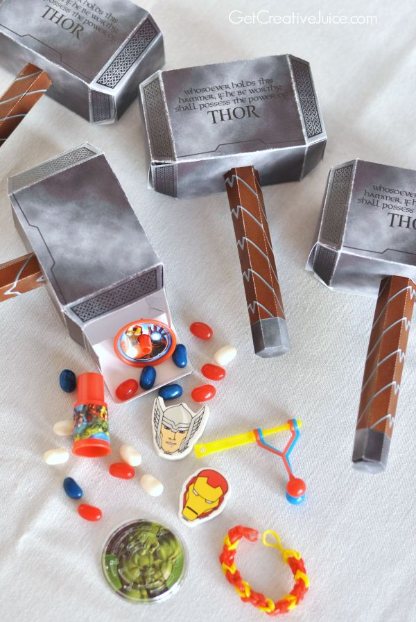 Thor's Hammer Favor Box #AvengersAtTarget - Visit to grab an amazing super hero shirt now on sale!