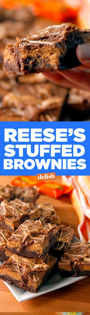 Reese's Stuffed Brownies  - Delish.com