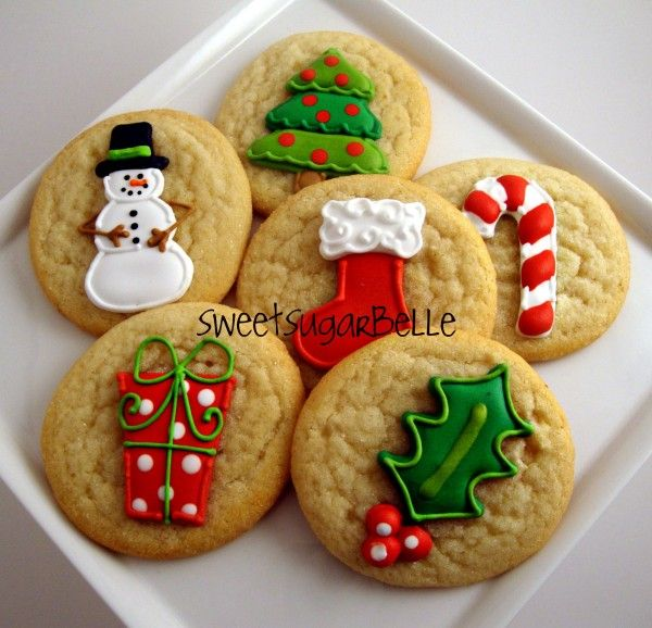 Christmas cookies - Store bought decorated sugar cookies - great idea if you dont have the time~