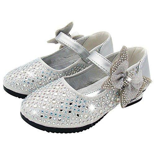 Oferta: 16.94€ Dto: -43%. Comprar Ofertas de M&A Zapatos Niñas Para Baile Fiestas Boda Ceremonia Tacón Velcro Mariposa Diamantes Antidelizante Plata 33 EU (TALLA FABRICAN barato. ¡Mira las ofertas!