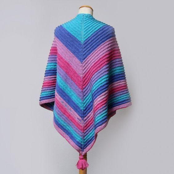 Strikket sjal med rille-mønster Hobbii Design Hobbii