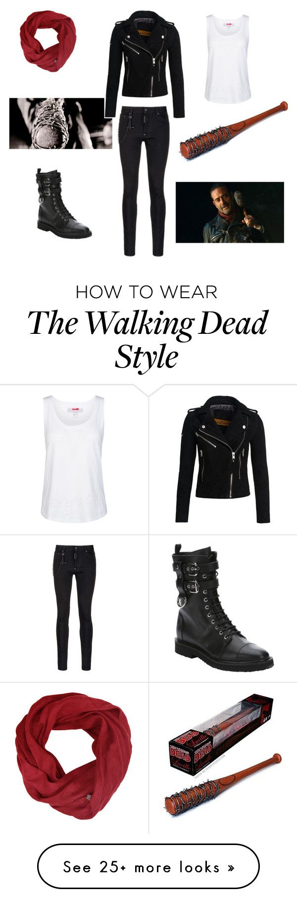 "(Megan's outfit for the apocalypse) ""Hi, I'm Negan..."" by bluesparrows on Polyvore featuring Superdry, Giuseppe Zanotti, Dsquared2 and adidas"