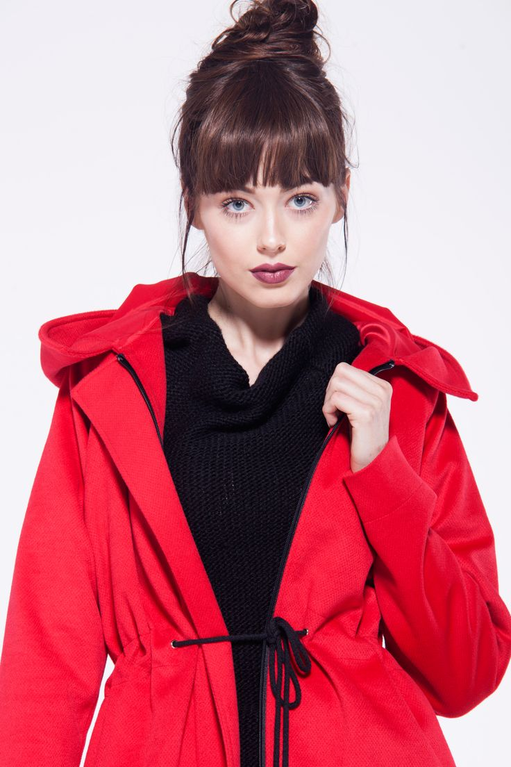 furelle #fashion #red #parka #winter #newarrival #chic