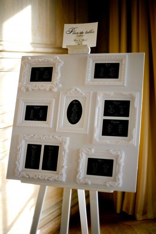 Les 9 meilleures images du tableau un mariage noir et blanc sur pinterest - Plan de table mariage baroque ...