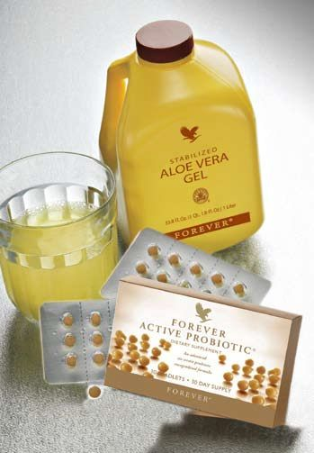 For good digestion and immune support: Forever Active Probiotic. Visit www.aloevera2u.com