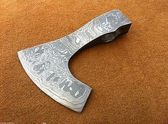 Knives Exporter Custom Hand Made Damascus Steel Bearded Hatchet / Axe Head