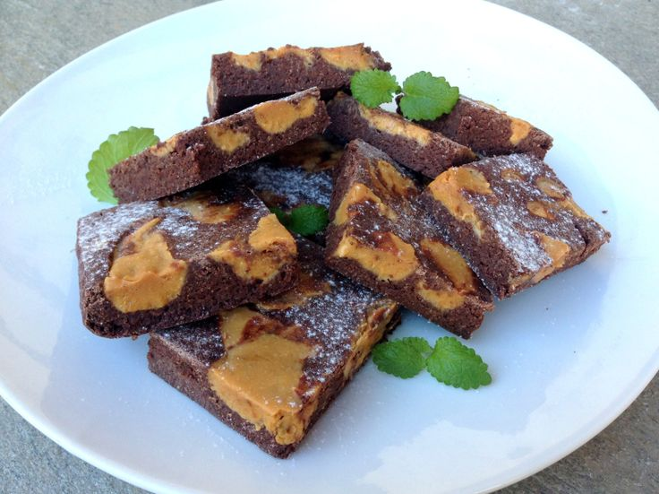 Brownies med innbakt vaniljefugde